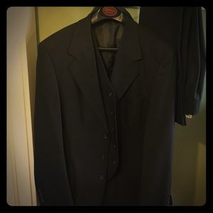 Men's black wool suit